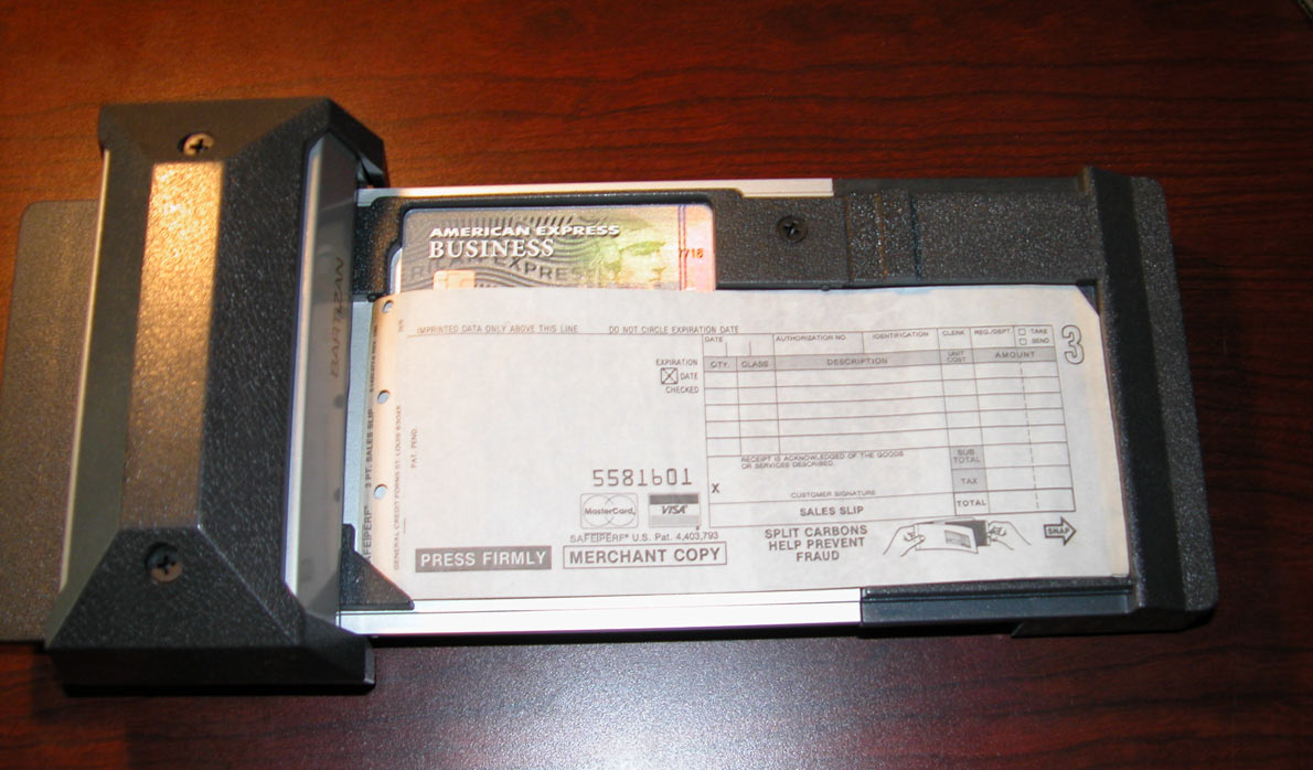 old charge card imprinter